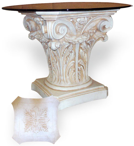Corinthian Table Base With Swag. Tb_table_base_header_large