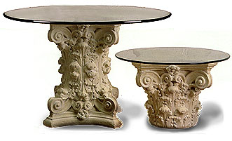 corinthian home decor table bases - Pedestal Table Base