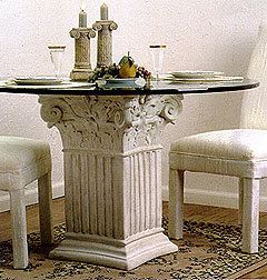Square Fluted Corinthian Base